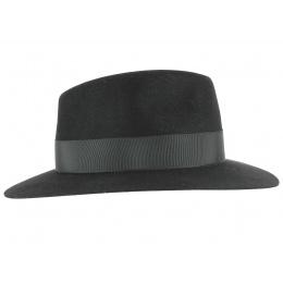 Chapeau Fédora en Feutre Lapin Noir-Fléchet