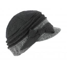 Casquette Gavroche Alessia  Laine Noir - TRACLET