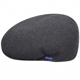 Casquette Carl Cotton Rib 504 Anthracite-Kangol