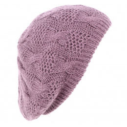 Béret Femme Florence Angora Lilas - Traclet