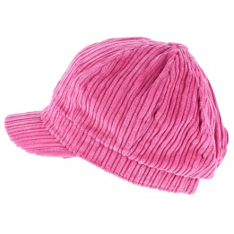 Casquette gavroche velours Rose - Traclet