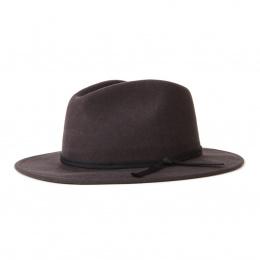 Coleman Fedora Hat Faded Black - Brixton