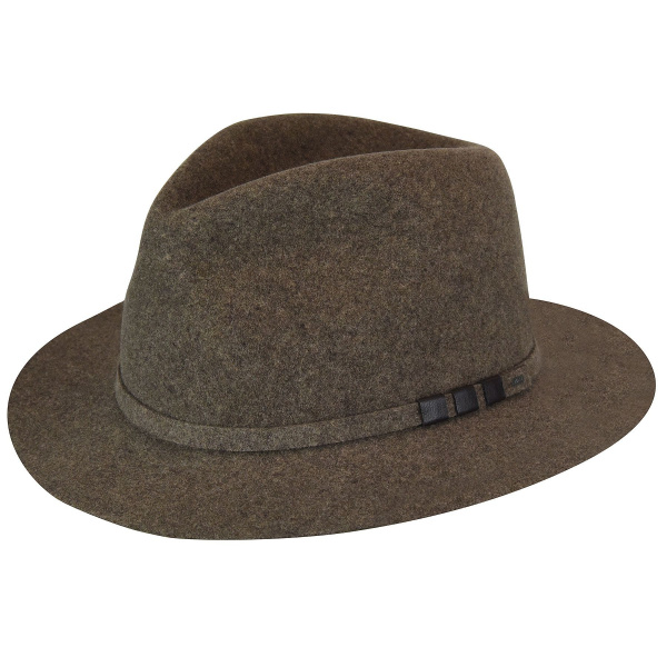 Chapeau Codner Lanolux Fedora Taupe- Bailey