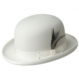 Chapeau Derby Melon Blanc-Bailey