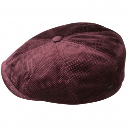 Casquette Newsboy Wyman Velours Bordeaux- Bailey