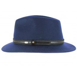 Hamilton Traveller Hat Blue Wool Felt - Crambes