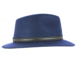 Chapeau Traveller Hamilton Feutre Laine Bleu - Crambes