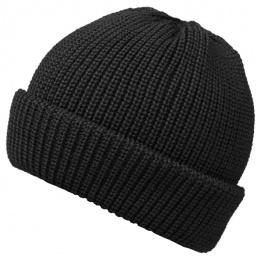 Bonnet en Tricot Dassel Avec Revers Noir- Traclet
