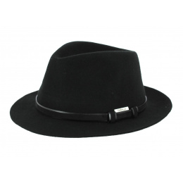 Traveller Mans Felt Hat Black- Traclet
