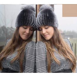 Bonnet / Chapka Lapin Siberia Gris - Traclet