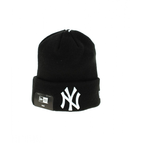 Bonnet à Revers Noir NY Yankees Enfants- New Era