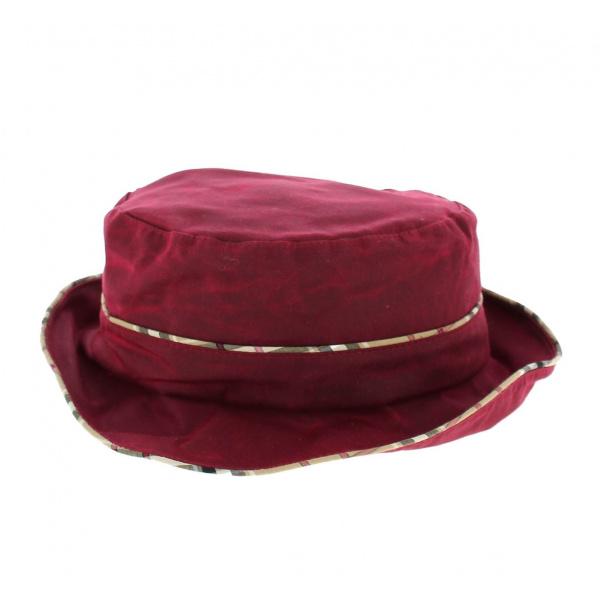 Chapeau Cloche Madeleine Bordeaux avec Imprimé Tartan- Traclet