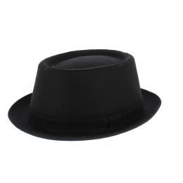 Chapeau Prato Porkpie Noir en Laine- Traclet