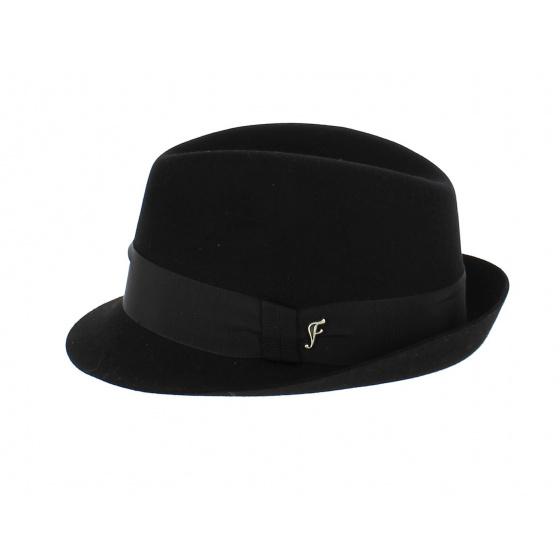 Chapeau Trilby Feutre Lapin Noir- Fléchet