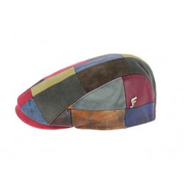casquette patchwork cuir