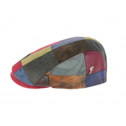leather patchwork cap