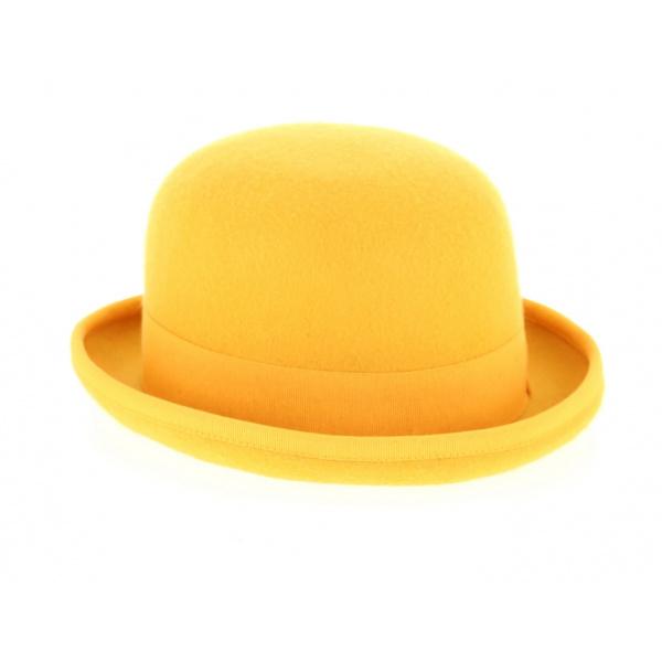Chapeau Melon Feutre Laine Jaune - Traclet