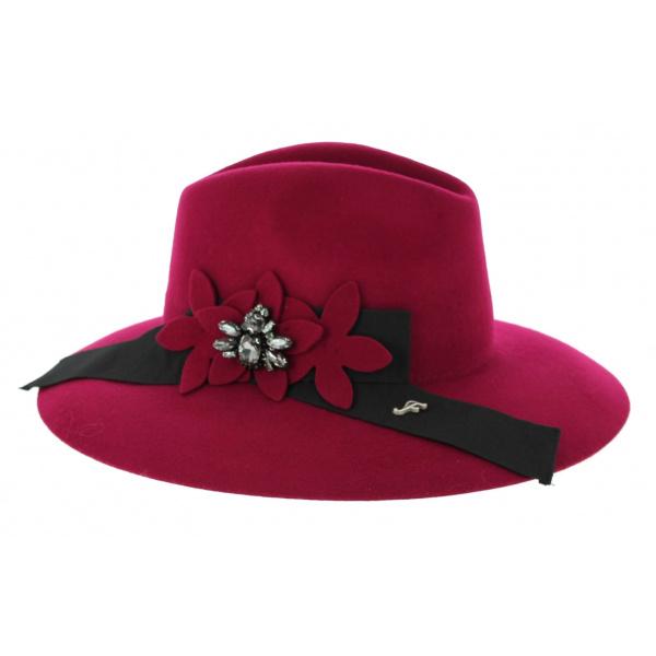 Chapeau Cabernet Rouge Feutre Laine- Fléchet