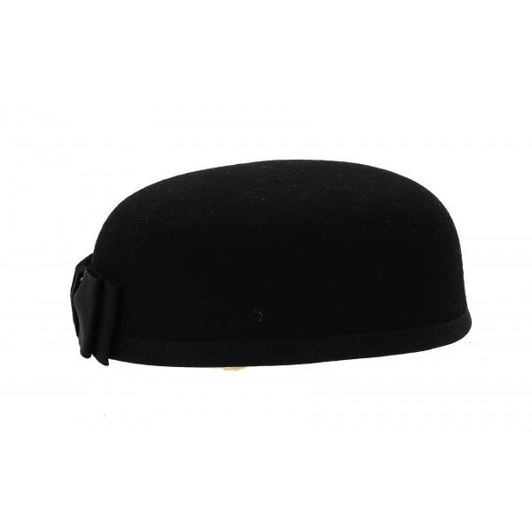Chapeau Carla Bruni Feutre Laine Noir- Traclet