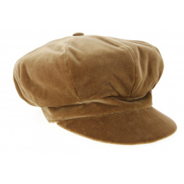 Casquette Gavroche Lucile Velours Camel- Traclet