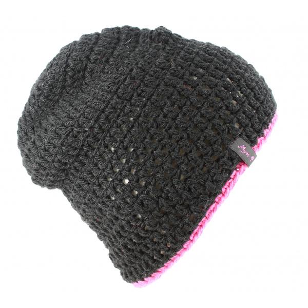 Bonnet basic reversible fushia et blanc