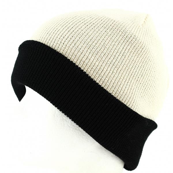 Bonnet Noir à Revers Doublé Laine- Traclet par Marone