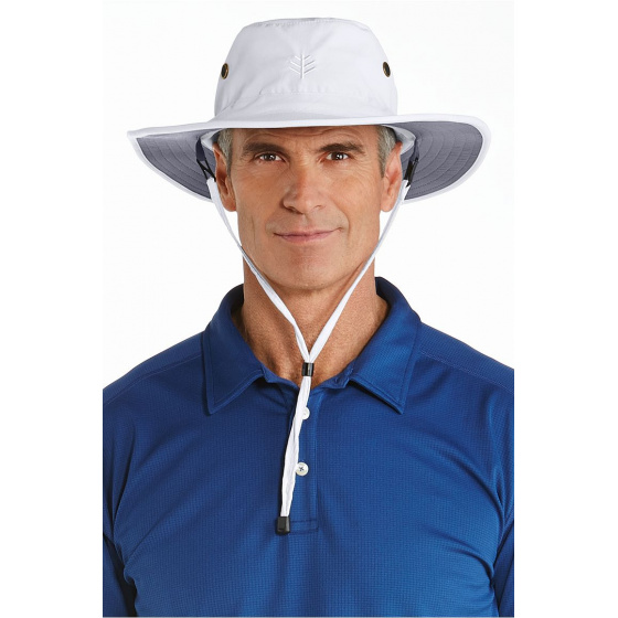 Chapeau Anti-UV 50+ Blanc/Gris- Coolibar