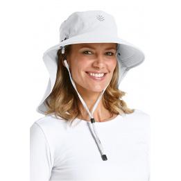Chapeau Cache Nuque Blanc Coolibar
