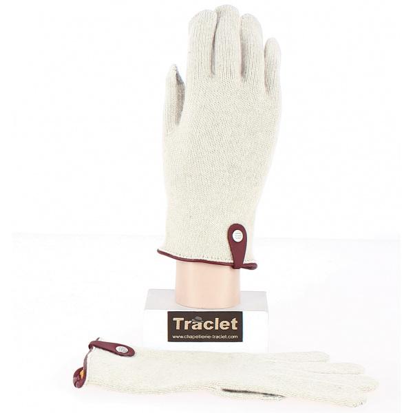 Gants Tactiles Séville Laine & cachemire Crème- Traclet