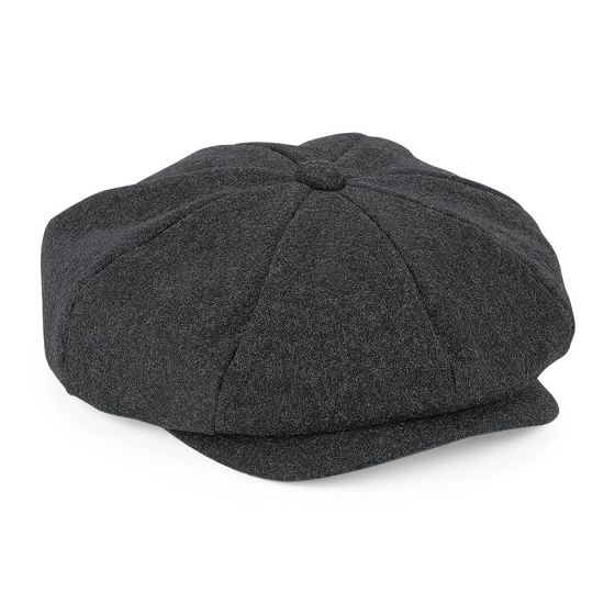 Theo Irish Cap Anthracite Wool - Traclet