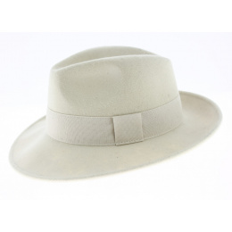 Fedora Hat Wool Felt White Water Resistant