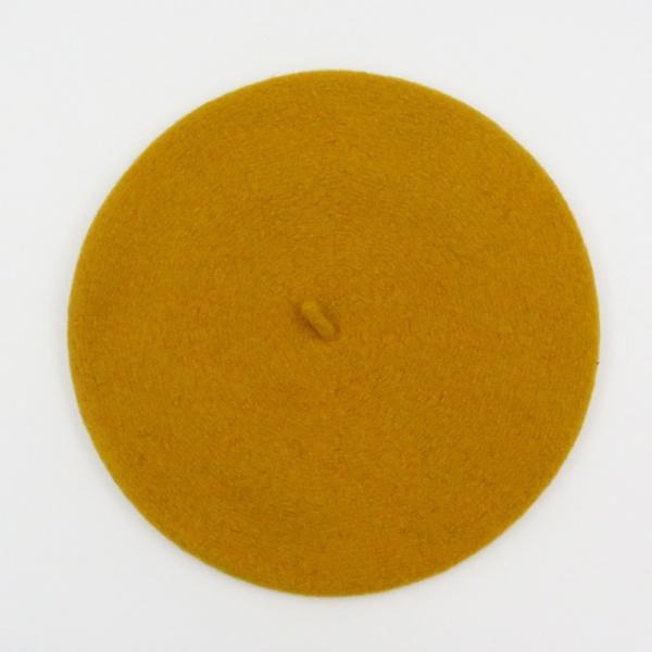 BERET FRANCAIS - Beret jaune moutarde