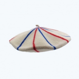The French Beret Blue/White/Red- Le Béret Français