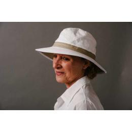 Chapeau Bob Naturel Audenge Beige & Blanc - Soway
