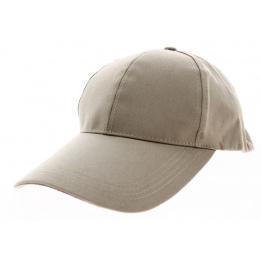 Casquette Baseball Coton Taupe Longue Visière- Traclet