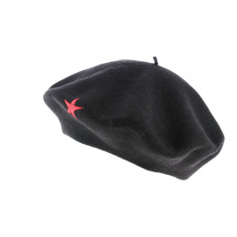 Che Etoile Basque Beret Black & Red - Traclet