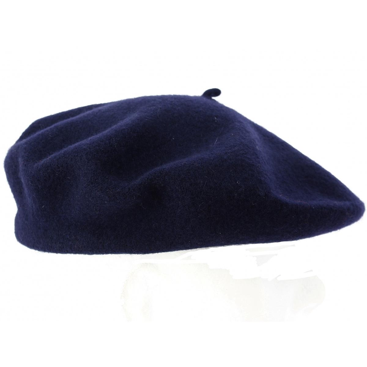 Vintage Bleu Marine Laine Français Béret taille 57