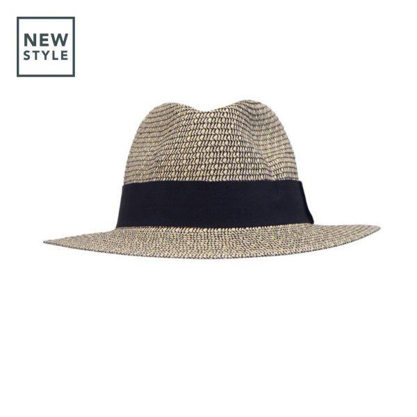 Chapeau Beau Fibres Naturelles Beige & Noir-Emthunzini Hats