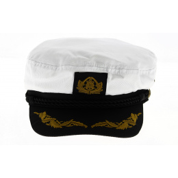Casquette Marin Capt'aine Coton Blanc - Traclet