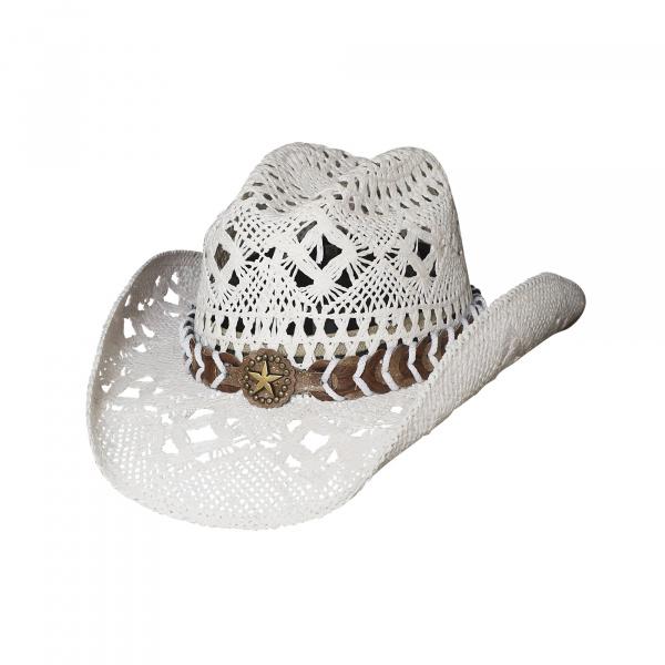 Chapeau Cowboy Femme Naughty blanc - Bullhide