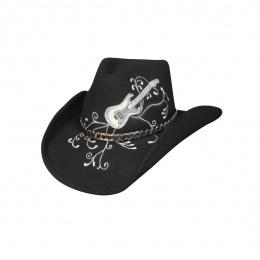 Chapeau de Cowboy Jesse Feutre Laine Noir - Bullhide