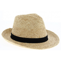 Chapeau Fédora Pélussin Paille Naturelle- Traclet