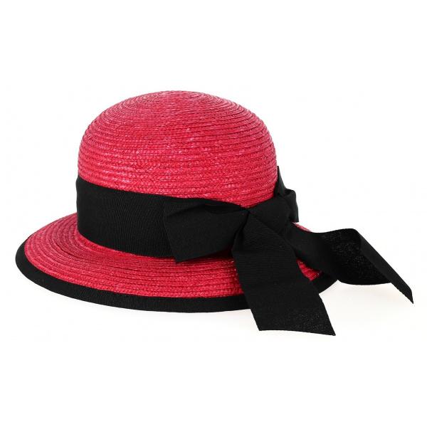 Chapeau Cloche Santornin Paille Rouge - Fléchet