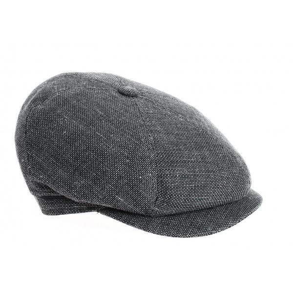 Casquette 6 Côtes Hoklin Coton & Lin Anthracite- Traclet