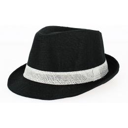 Chapeau Trilby California Lin Noir - Traclet