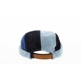 Miki Breton 5 panels Patchwork Cotton - Waxed Concrete