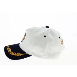 Casquette Marin Capt'aine Coton Blanc - Traclet