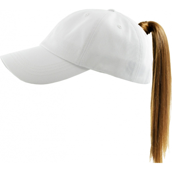 Classic Cap Ponytail White- Traclet