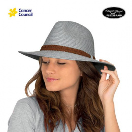 Chapeau Fedora Dallas Mannish Fibres Naturelles Gris- Rigon Headwear