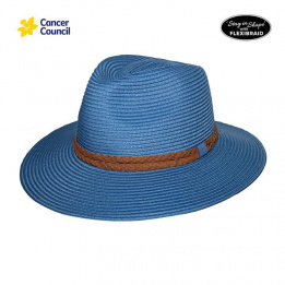 Chapeau Fedora Dallas Mannish Fibres Naturelles Bleu - Rigon Headwear